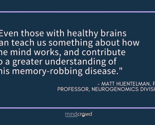 Even those with healthy brains can contribute in the fight against Alzheimer's.