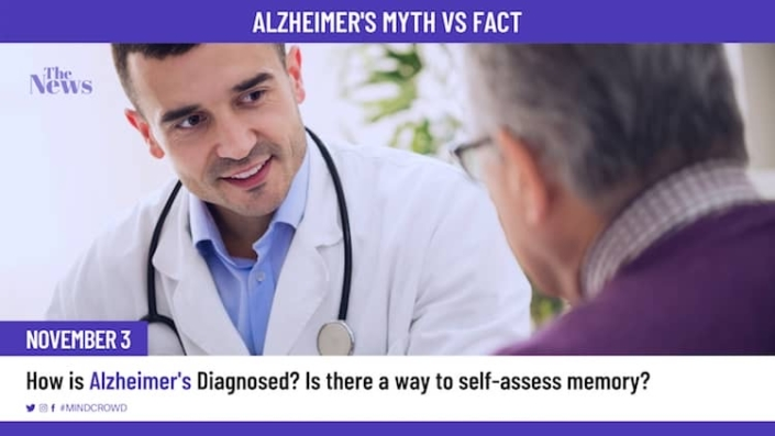 How is Alzheimer's diagnosed? Is there a way to self-assess memory? Alzheimer's Myth vs fact by Dr. Matt Huentelman, Ph.D.