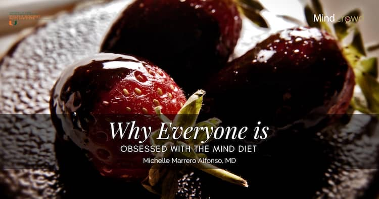 The MIND diet encourages eating strawberries several times a week. Their phytonutrients have been shown to help keep memory and thinking abilities. Yes, chocolate is on the approved list!