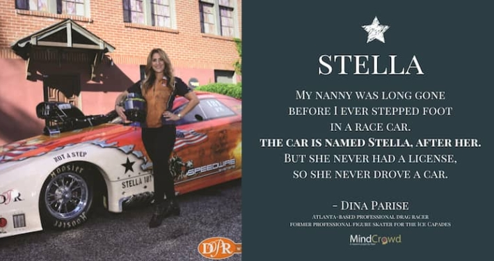 Dina Parise named her race car Stella after her grandmother with dementia.