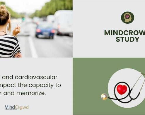 MindCrowd, the largest study of cognitive abilities says cardiovascular disease and smoking affect memory performance. The effects of smoking are more pronounced among females.