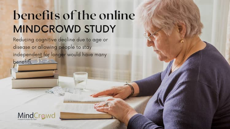 Benefits of the online MindCrowd scientific study: improving quality of life and saving billions in healthcare costs.