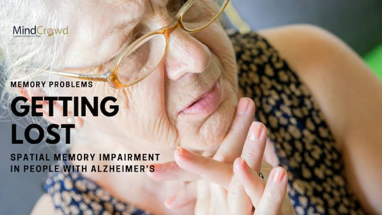 Spatial memory impairment in people with Alzheimer's.